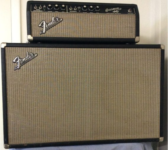 "(1966) Fender Bassman Head & 2×12 Cab – ""Piggy Back"" set"