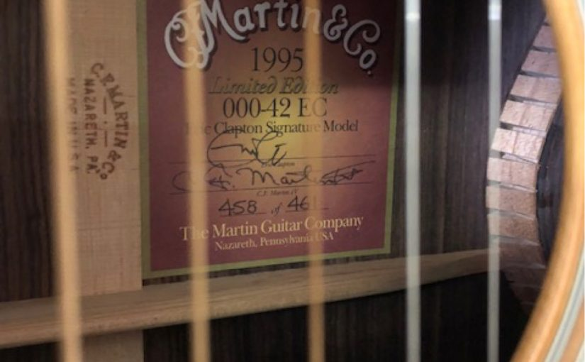 (1995) Martin 000-42EC – Eric Clapton Signature – Prestine Condition!!