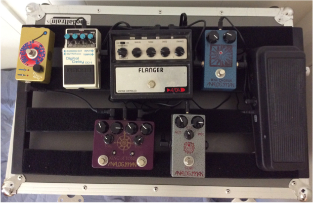 Effects Pedals w/ HD Road Case & Power Supply