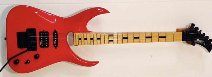 (1992) Dana-Scoop, Red w/ Maple Fingerboard, **ONLY ONE MADE**